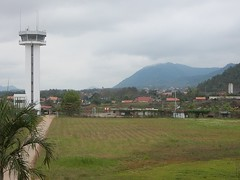 View from the Terminal (mikecogh) Tags: luangprabang airport controltower hills