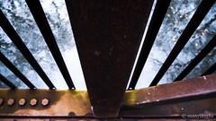 The bridge: Through the rails (@manylaughs) Tags: bridge barcroft arlingtonva arlington virginia guardrail geometry lines