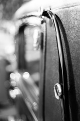 Final Ride (belleshaw) Tags: blackandwhite benedictcastleconcours riverside carshow classiccar chrome window glass bar texture abstract detail