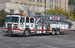 Frankfort KY   Truck 2 (kyfireenginephoto) Tags: owenton ky sutphen white truck aerial pump building franklin 2002 kentucky us421 ffd tower ladder us127 fire prison wall jail