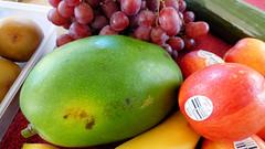 I've been shopping today (Sandy Austin) Tags: panasoniclumixdmcfz70 sandyaustin westauckland auckland fruit northisland newzealand americanmango nectarines grapes