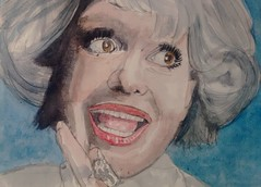 Carol Channing (Utopist) Tags: watercolour watercolor portrait women carol channing singer actress