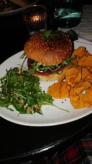 IMG_20190129_184633 (phiphikcct) Tags: kaffi vinyl downtown reykjavik iceland food vegan vegetarian portobello burger mushroom sweet potato chips salad