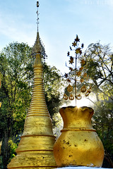 Kalaw temple (Neal J.Wilson) Tags: myanmar burma travel travelling nikon buddhism buddhisttemple temple religion golden gold sunrise dawn asia kalaw
