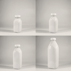 day 44 (Randomographer) Tags: project365 bottle light standing square vessel container receptacle quad four sizes growth evolution panels sequence sequential minimal monotone greyscale grayscale product 44 black white 365 2019