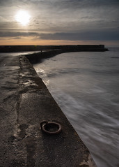 Collieston Harbour (PeskyMesky) Tags: aberdeenshire collieston colliestonharbour longexposure water sunrise sunset landscape scotland canon canon5d eos