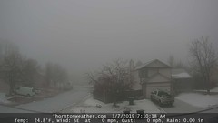 March 7, 2019 - Fog and ice start the day. (ThorntonWeather.com)