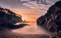 Sunrise in Cala Canyers (PepinAir) Tags: landscape sunrise sun catalonia xt3 esfujifilmx water nature costabrava sea clouds colors