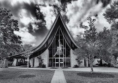 St Paul Lutheran (Tim Ravenscroft) Tags: stpaul lutheran church sarasota florida architecture hasselblad hasselbladx1d monochrome blackandwhite blackwhite