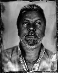 Ian (fitzhughfella) Tags: wetplate tintype tinplate ether collodion silvernitrate largeformat 4x5 graflexspeedgraphic kodakaeroektar darkroom portrait