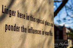 Linger Here (Aaron Hufnagel) Tags: corydon indiana corydonindiana harrisoncounty historiccorydon linger ponder quotes quote statecapitol nikon nikond600 d600 tokina tokina2870 2870mm tokinaatx