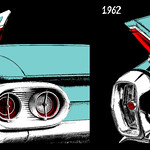 1961 and 1962 Cadillac Red Taillight and Fin thumbnail