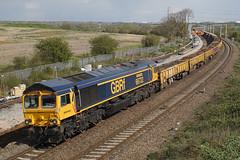 66722 13-04-19 (IanL2) Tags: gbrf class66 66722 siredwardwatkin wellingborough northamptonshire mml railways trains