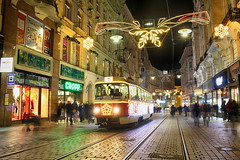 "Christmas tram at the station ""Zelný trh"" (paprtala) Tags: christmas tram brno streetphoto"