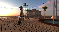 We decided that Dinkies have more fun :D  , we were right!! (skylerstormysky) Tags: firestorm secondlife secondlife:region=wwfunpark secondlife:parcel=wwfunpark secondlife:x=54 secondlife:y=220 secondlife:z=22 dinkies sl cat cats beach sky sunset sea dancing fun party happy couple avatars