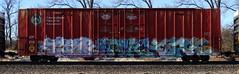 Tank/Lack/Forge (quiet-silence) Tags: graffiti graff freight fr8 train railroad railcar art tank lack forge eka wh fs kbt boxcar cp cprail cp218032