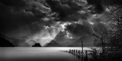 Moody Derwent B&W (petebristo) Tags: derwentwater lakedistrict lakes cloud rain windy absoluteblackandwhite alwaysexcellent