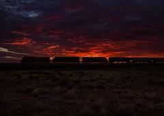 BNSF 5177 west at Dennison, AZ, 07/16/2017 (Ray C. Lewis) Tags: bnsf burlingtonnorthernsantafe sunrise arizona trains trainspotting railroading railroads railfan seligmansub
