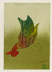 Bird 194 (Pax30091) Tags: watercolour bird serie postcard arches paper creative craftmen