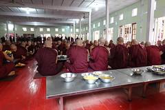 Buddhist monks at Maha Ganayon Kuang monastery in Amarapura, Mandalay region (2) (Prof. Mortel) Tags: myanmar burma amarapura buddhist monks