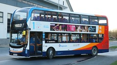 Stagecoach North West 11143 YX68UWS at Heysham Towers terminus with a service to Lancaster University. (Gobbiner) Tags: adl stagecoachnorthwest 11143 lancaster e400mmc enviro cumbrianorthlancashire yx68uws heyshamtowers university