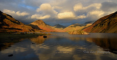 At the end of the day: Wasdale. (trev.eales) Tags: wasdale wastwater middlefell yewbarrow greatgable linfmell scafell thescrees illgillhead reflections lake lakedistrict mountains snow clouds sky landscape nationalpark cumbria nikon fells treveales