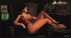 Don't Owe You A Thang (Moxxie Kalinakova) Tags: brunette lingerie sexy classy smoking beauty beautiful curvy milf moxxie kalinakova