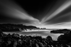 Current (Rico the noob) Tags: dof rock d850 landscape 20mm water outdoor published blackandwhite stones clouds tenerife longexposure sky beach ocean monochrome sea rocks 2018 nature bw horizon teneriffa coast 20mmf18