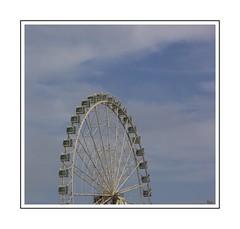 The Big Wheel (Audrey A Jackson) Tags: canon60d valencia spain wheel sky blue clouds