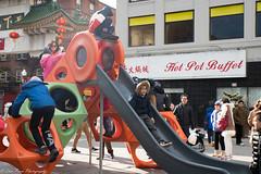 Children's fun time at the park (kuntheaprum) Tags: chinatownboston chinesenewyearcelebration yearofthepig sony a7riii tamron 2470mm f28 festival parade dragon firework