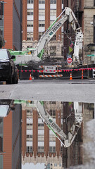 Reflections of the Columbia ramp demolition (WSDOT) Tags: gp alaskan way viaduct demolition seattle deconstruction rubble