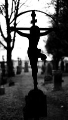 Jesus (MikeSolfrank) Tags: straubing nacht night black düster friedhof cemetery ruhe death live tod leben kreuz kruzefix stpeter old alt stimmung art