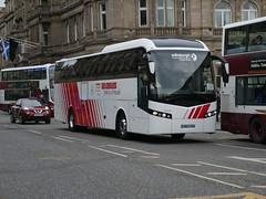 Edinburgh Coach Lines Volvo B11R Jonckheere SHV SN65KKM, in Globus livery, at Princes Street, Edinburgh, on 22 February 2019. (Robin Dickson 1) Tags: edinburghcoachlines busesedinburgh eirebusofdublin landtoureroffareham volvob11r jonckheereshv 161d7806 sn65kkm globustours