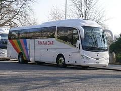 Fairline Coaches of Glasgow Scania K410EB4 Irizar i6 F11LNE, new as YN17ONX, in Trafalgar Tours livery, at Regent Road, Edinburgh, on 27 February 2019. (Robin Dickson 1) Tags: f11lne busesedinburgh scaniak410eb4 yn17onx trafalgartours craigofcampbeltown westcoastmotors fairlinecoaches irizari6