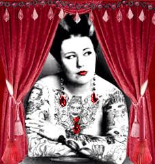 'Scarlet ohh!' (tishabiba) Tags: saucy scarlet paintedlady tattoo conceptional perception artphoto artwork surrealism surreale surreal tish digitalmania digitalart