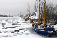 Not Going Anywhere (Anthony Mark Images) Tags: frozen ice snow snowing stuck notgoinganywhere winter sailboats pathfinder toronto ontario canada winterscenes channel cherrystreetbridge nikon d850 shipchannel winterboats playfair
