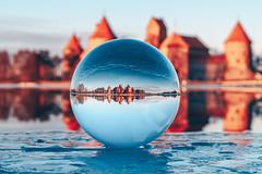 Trakai Island Castle | #GlassBall Project #65/365 (A. Aleksandravičius) Tags: trakai island castle lithuania trakųpilis trakaicastle europe lietuva crystal ball glass glassballproject nikon nikkor 50mm 50 365 365days 3652018 z7 nikonz7 50mmf14g nikkor50mm nikon50mm14g f14g nikon50mm project365 65365 ice frozen sunset sun architecture travel