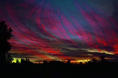 Electric (Dreaming of the Sea) Tags: summer sunset gimp sliderssunday nikond7200 tamronsp2470mmf28divcusd bundaberg queensland australia clouds hss