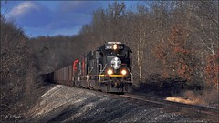 Ore Loads (Images by A.J.) Tags: train railroad railway canadian canadien national cn ble bessemer lake erie emd sd40t3 tunnel motor oneida butler freight pa pennsylvania signal