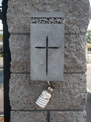 I am the light (El Cajon) Tags: cross crucifix christian jesus lightbulb cfl broken