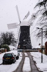 Holgate Windmill in snow, February 2019 - 03