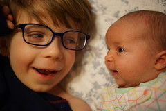 (patrickjoust) Tags: sony a7 digital camera manual focus lens domestic home kid child patrick joust patrickjoust baltimore maryland md usa us united states north america estados unidos geneva llewelyn brother sister boy girl baby smile glasses