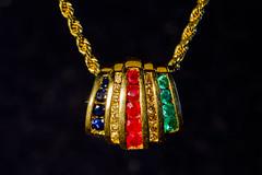 Macro Mondays (Jim K510) Tags: blue green macromondays jewelry red macro