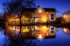 The Clock Warehouse (Steve Millward) Tags: nikon nikkor d750 2470 fx fullframe leefilters manfrotto stevemillward perspective composition interesting colour light texture tone mood moment sky cloud nature landscape scenic beautiful drama dramatic outdoor outside england derby shardlow cold river reflection longexposure water boat bluehour sunset reflections night winter dusk newyearsday