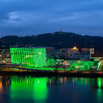 Ars Electronica Center Linz in the evening thumbnail