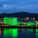 Ars Electronica Center Linz in the evening