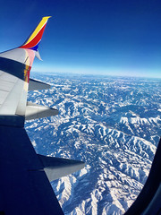 """""""Wing Over Wasatch"""" (Halvorsong) Tags: mountains wasatch wasatchmountains saltlakecity utah usa altitude america thewest art composition travel explore discover distance winter blue azure cold horizon sunshine halvorsong nature wilderness landscape"""