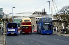 Southampton West Quays (PD3.) Tags: bus buses psv pcv southampton hampshire hants england uk wilts dorset go ahead goahead group bluestar first 1558 hf63 jmx hf63jmx adl enviro 400 367 btr367b btr 367b aec regent 47669 sn15acv sn15 acv wright streetlite