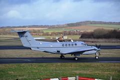 C-12 at Prestwick (Gerry Rudman) Tags: ayr beech c12 huron prestwick pik us govt 50095