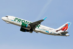 Frontier Airbus A320-214 N228FR (Mark Harris photography) Tags: spotting lax la canon 5d plane aviation